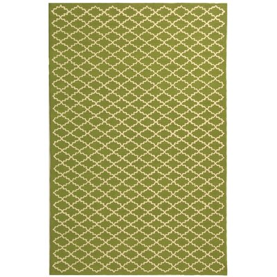Fullerton Hand-Woven Cotton Olive/Ivory Area Rug Rug Size: Rectangle 26 x 43