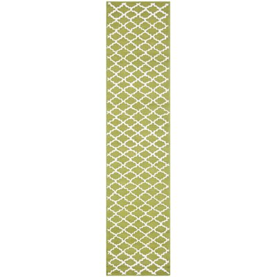 Fullerton Hand-Woven Cotton Olive/Ivory Area Rug Rug Size: Runner 23 x 10