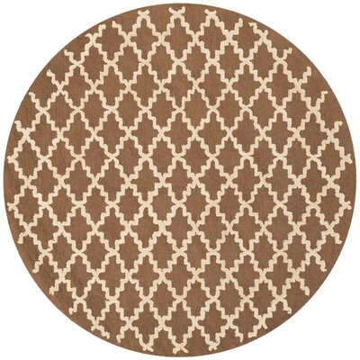 Fullerton Chocolate Area Rug Rug Size: Round 6