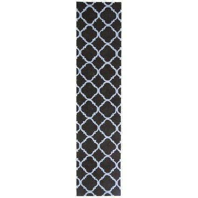 Fullerton Black/Blue Geometric Area Rug Rug Size: Runner 23 x 10
