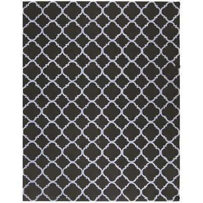 Fullerton Black/Blue Geometric Area Rug Rug Size: 39 x 59