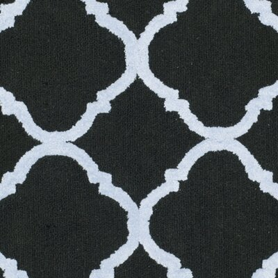 Fullerton Black/Blue Geometric Area Rug Rug Size: Square 5
