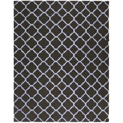 Fullerton Black/Blue Geometric Area Rug Rug Size: 5'6