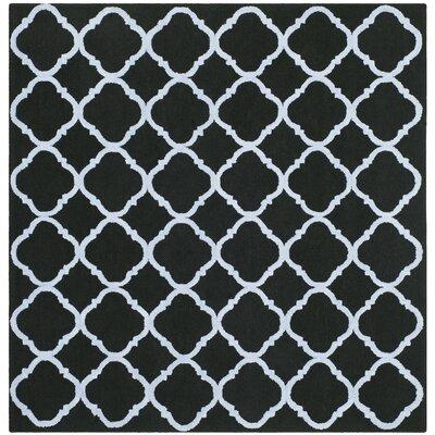 Fullerton Black/Blue Geometric Area Rug Rug Size: Square 7