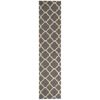 Fullerton Brown/Ivory Geometric Area Rug Rug Size: Runner 23 x 12