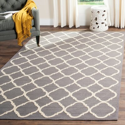 Fullerton Brown/Ivory Geometric Area Rug Rug Size: Rectangle 56 x 86