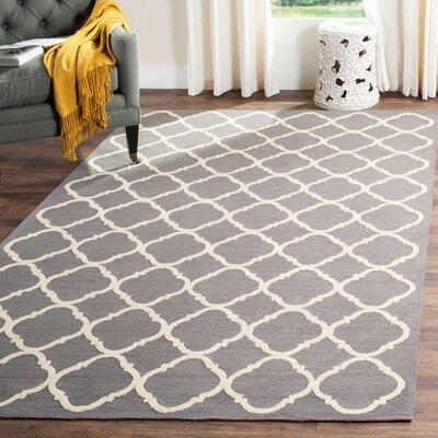 Fullerton Brown/Ivory Geometric Area Rug Rug Size: 56 x 86