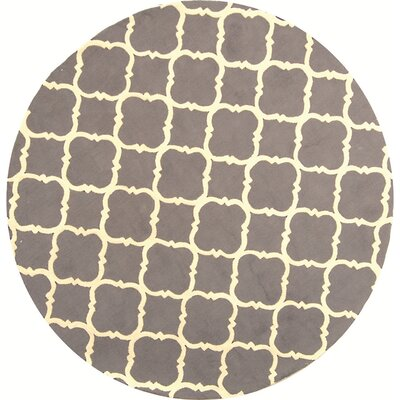 Fullerton Brown/Ivory Geometric Area Rug Rug Size: Round 6'