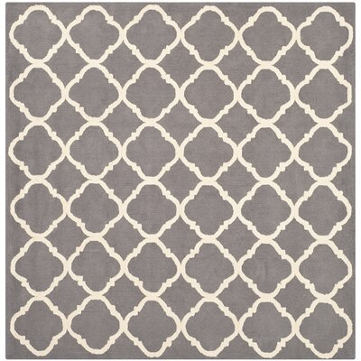 Fullerton Brown/Ivory Geometric Area Rug Rug Size: Square 5