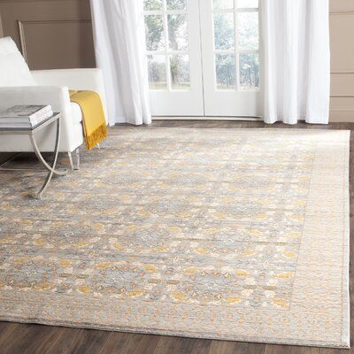 Hartsville Light Gray Area Rug Rug Size: Rectangle 4 x 6