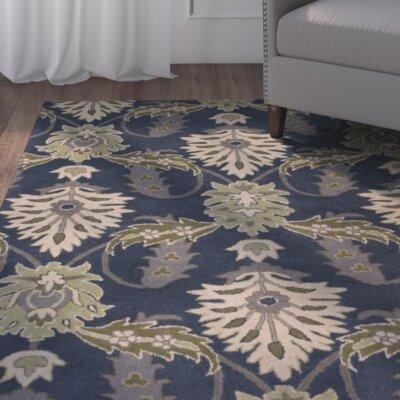 Linnet Hand-Tufted Slate Blue Area Rug Rug Size: 8 x 10
