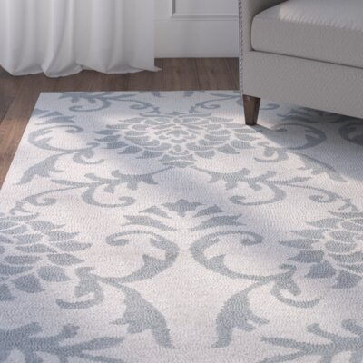 Garrettsville Hand-Hooked Ivory/Gray Area Rug Rug Size: Rectangle 23 x 39