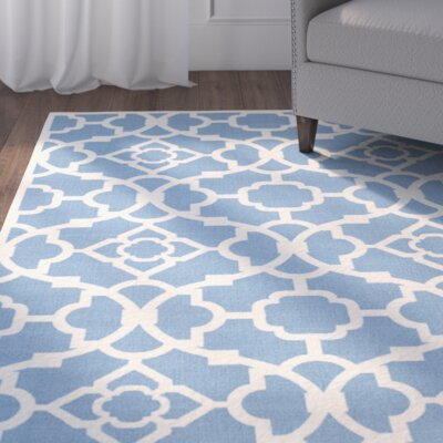 Kenton Azure/White Indoor/Outdoor Area Rug