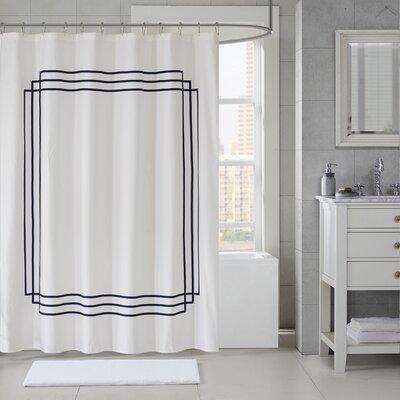 Franklintown Cotton Applique Shower Curtain