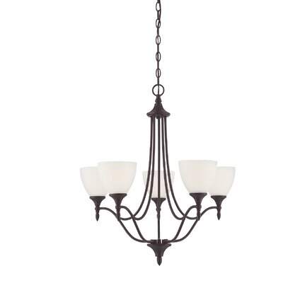 Thayer 5-Light Shaded Chandelier Finish: English Bronze