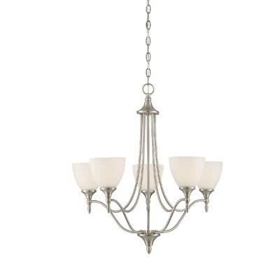 Thayer 5-Light Shaded Chandelier Finish: Satin Nickel