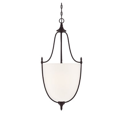 Gourdine 3-Light Urn Shade Inverted Pendant Finish: English Bronze