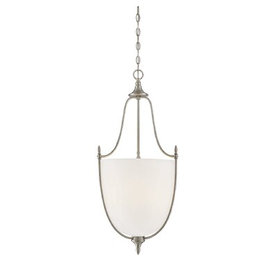 Gourdine 3-Light Urn Shade Inverted Pendant Finish: Satin Nickel