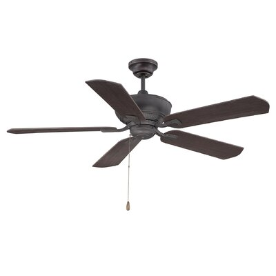 Evansburg 5-Blade Ceiling Fan Finish: English Bronze / Gold