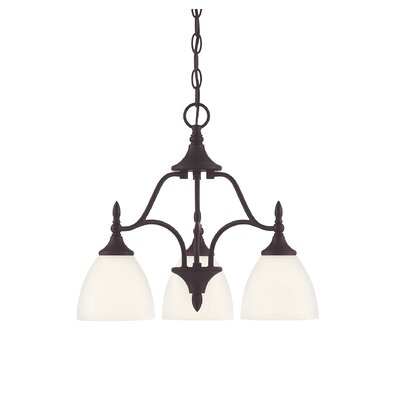 Thayer 3-Light Shaded Chandelier Finish: English Bronze