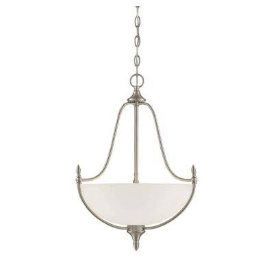 Thayer 3-Light Inverted Pendant Finish: Satin Nickel