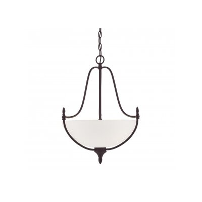 Thayer 3-Light Inverted Pendant Finish: English Bronze