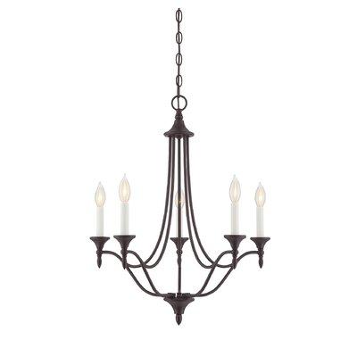 Thayer 5-Light Candle-Style Chandelier Finish: English Bronze