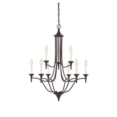 Thayer 9-Light Candle-Style Chandelier Finish: English Bronze