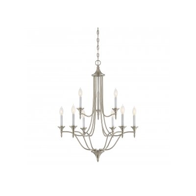 Thayer 9-Light Candle-Style Chandelier Finish: Satin Nickel