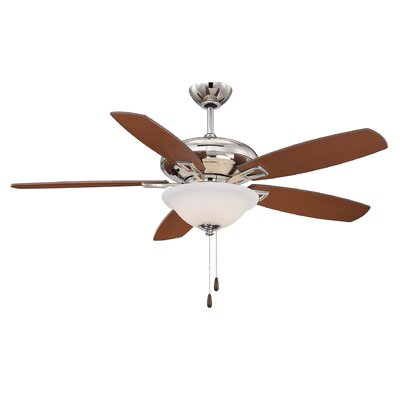 Kelleher 52 5-Blade Ceiling Fan Finish: Polished Nickel