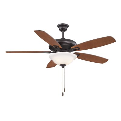 Kelleher 52 5-Blade Ceiling Fan Finish: English Bronze
