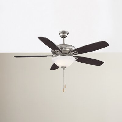 Kelleher 52 5-Blade Ceiling Fan Finish: Satin Nickel