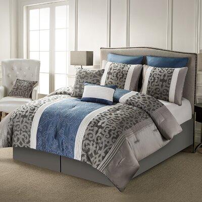 Bohannon 8 Piece Comforter Set Size: Queen