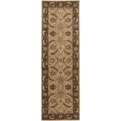 Florence Hand-Woven Brown Area Rug Rug Size: Runner 26 x 8