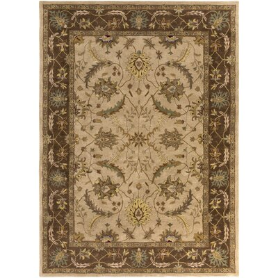 Haverstraw Hand-Tufted Beige Area Rug Rug size: 33 x 53