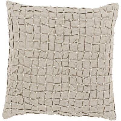 Evansburg 100% Linen Throw Pillow Cover Color: GrayNeutral