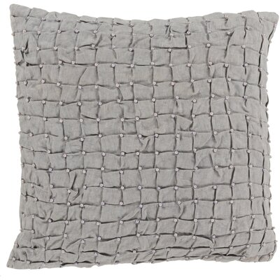Colona 100% Linen Throw Pillow Cover Color: WhiteLight Gray