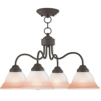Stoudt 4-Light Shaded Chandelier