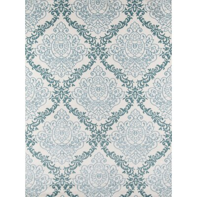 Kinsley Blue/Ivory Area Rug Rug Size: 9'3