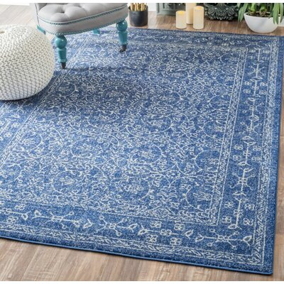 Utterback Blue Area Rug Rug Size: Rectangle 5 x 75