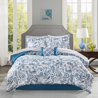 Dewart Comforter Set Size: Queen, Color: Blue