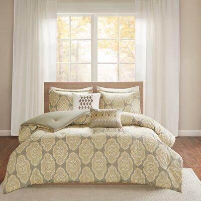 Gottberg 5 Piece Comforter Set Size: King/California King, Color: Yellow