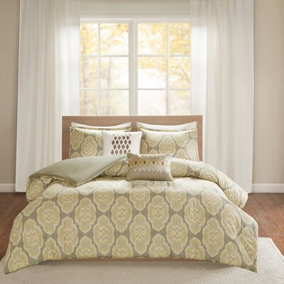 Gottberg 5 Piece Duvet Cover Set Size: Full/Queen, Color: Yellow