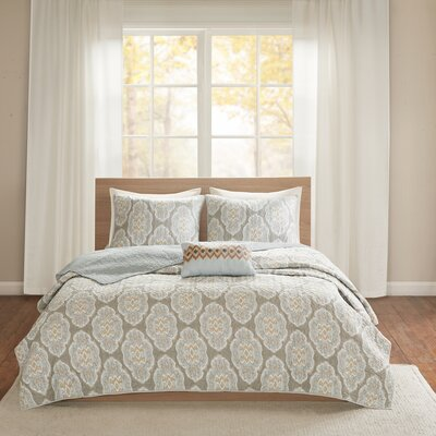 Gottberg Cotton 4 Piece Coverlet Set Size: Full/Queen, Color: Blue