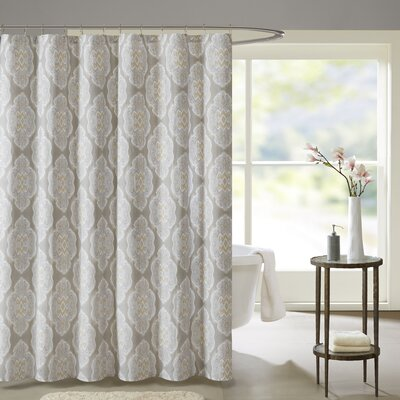 Gottberg Cotton Shower Curtain Color: Blue