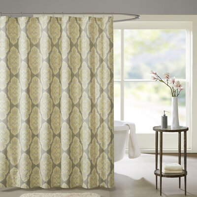 Gottberg Cotton Shower Curtain Color: Yellow