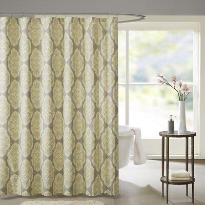 Gottberg Cotton Shower Curtain Color: Yellow