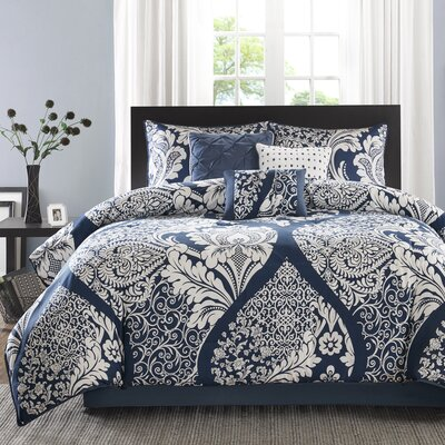 Goodwin 7 Piece Comforter Set Size: Queen, Color: Indigo