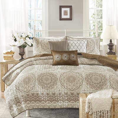 Knotts 6 Piece Reversible Coverlet Set Size: King/Cal King