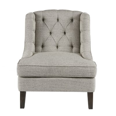 Hodgson Button Tufted Wingback Chair Upholstery: Beige